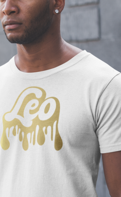 Men's Drip White Tee W/ Gold