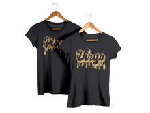 Ladies' ideal fitted gold glitter dripping zodiac