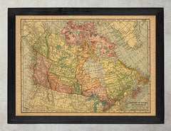 Vintage Map of Canada