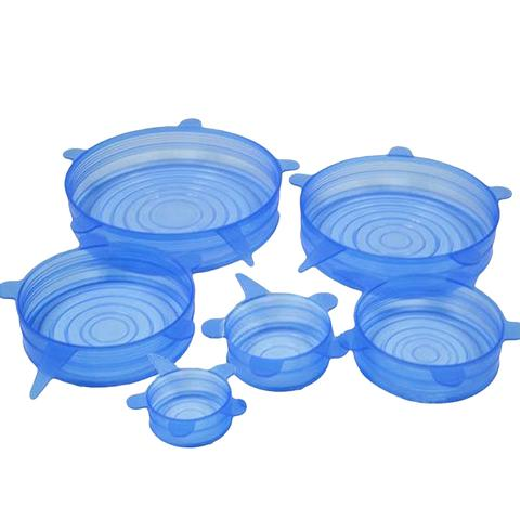 Fresh Reusable Silicone Stretch Lids - Set of 6