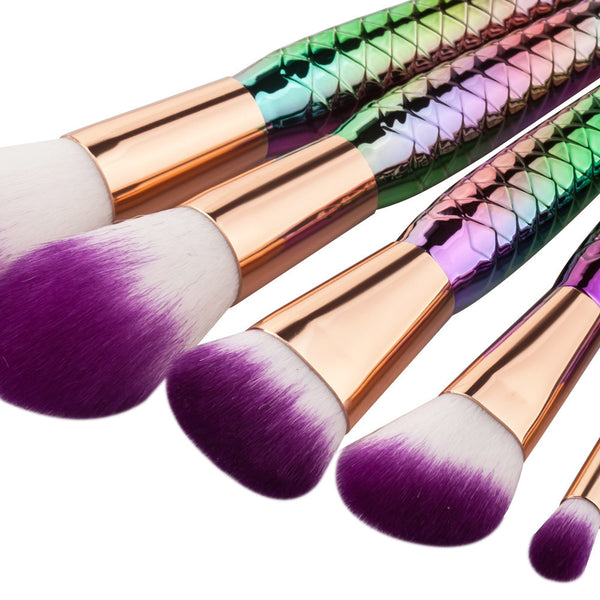 Mermaid Makeup Brushes 7 Piece Set