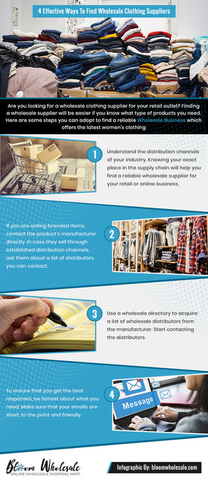4 Smart Ways To Find Wholesale Clothing Suppliers
