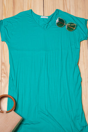 Mint Cross Front Maxi Dress