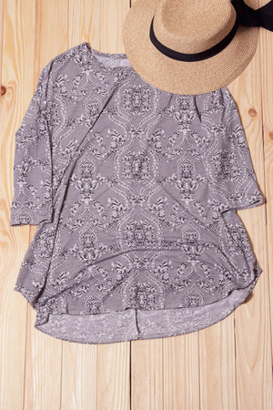 Paisley Printed Breathable Top