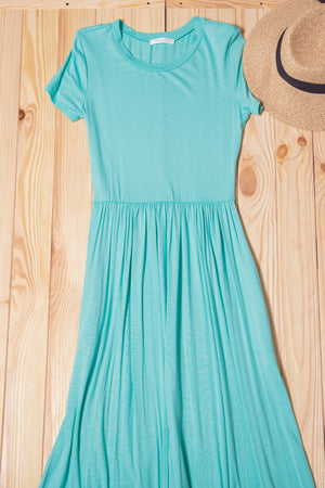 Mint Solid Maxi Dress