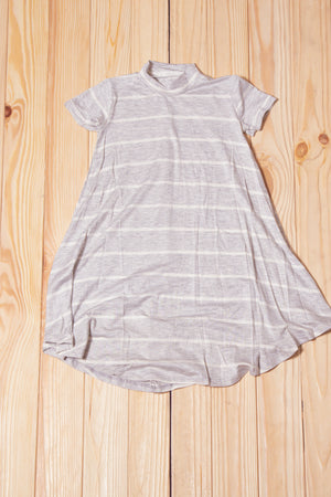 KIDS Grey Stripe Tunic Dress
