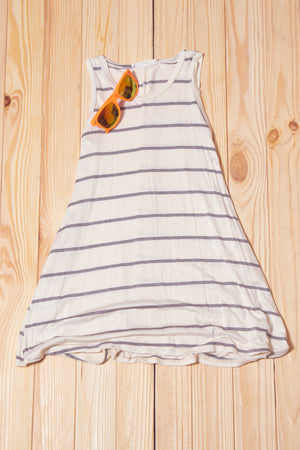 KIDS Ivory Stripe Tunic Dress
