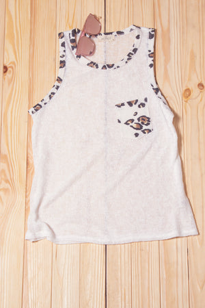 Ivory Animal Pocketed Tank