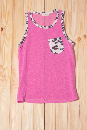 Pink Animal Pocketed Tank