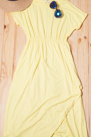 Yellow Solid Maxi Dress