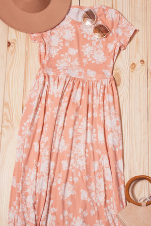 Blush Floral Pocketed Maxi Dress (6 pc)