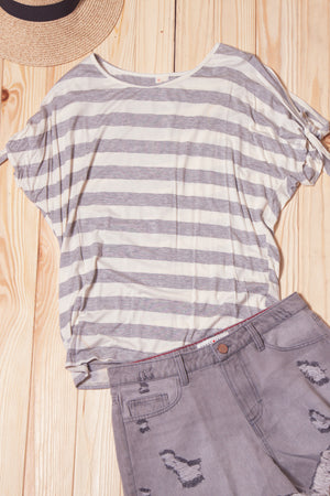Grey Stripe Blouse