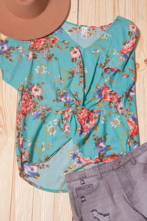 Thermal Floral Twist Blouse