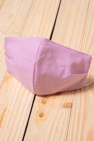 Pink Stripe Cotton Re-Useable Mask