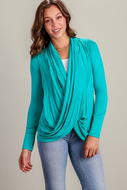 Teal Infinity Blouse
