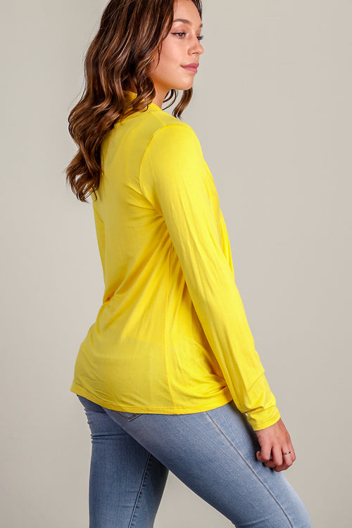 Yellow Infinity Blouse