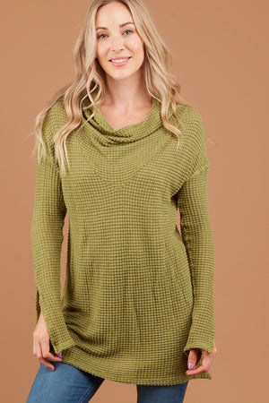 Green Cowl Sweater