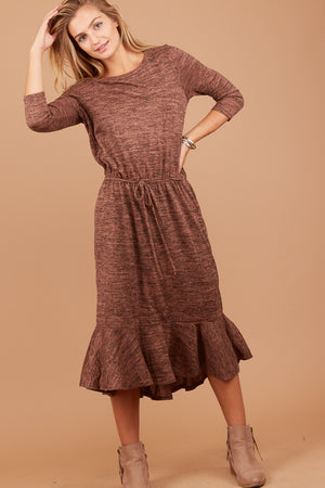 Brown 2 Tone Dress