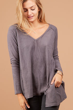 Charcoal Thick Blouse
