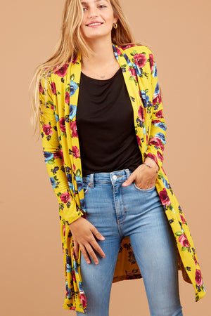 Yellow Floral Cardigan