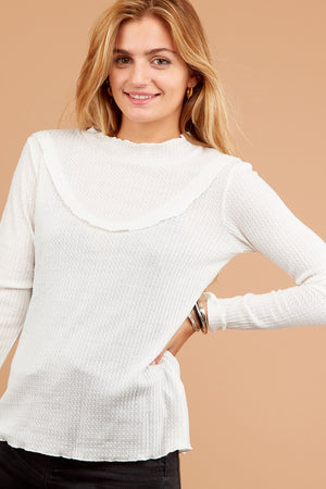 Ivory Thermal Blouse