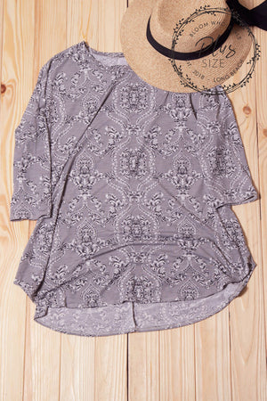 PLUS Paisley Printed Breathable Top