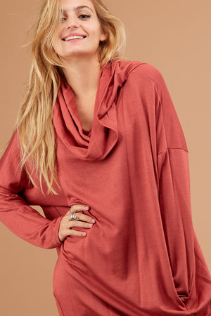 Plus Cowl Neck Blouse