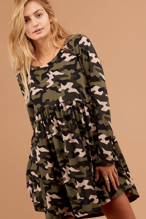 Camo Babydoll Dress