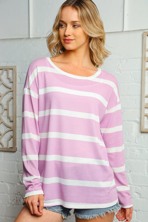 Lilac Stripe Blouse