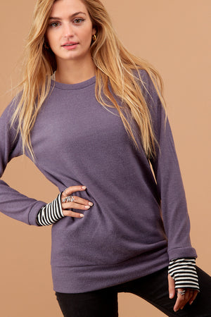 Plum Stripe Sweater
