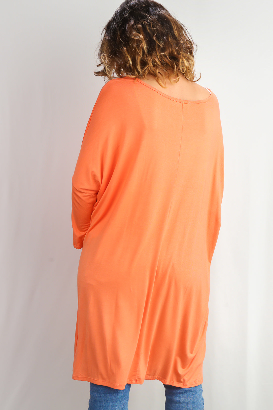 Plus Coral 3/4 Sleeve Tunic