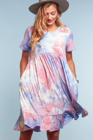 Tie Dye Pocketed Dress