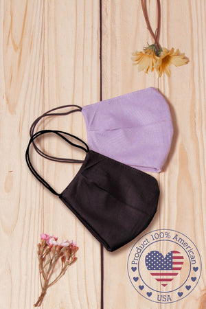 Lilac Cotton Re-Useable Mask