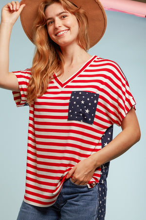 Stripe & Stars Pocket Blouse