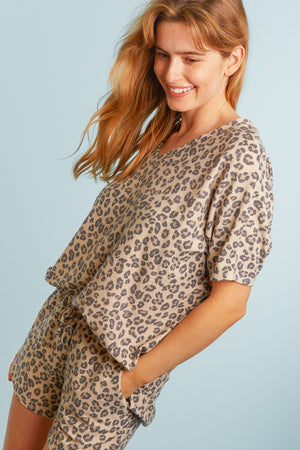 Plus Animal French Terry Blouse