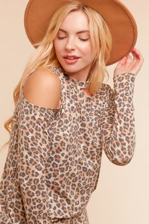 Animal Off Shoulder Design Blouse