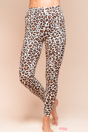 Ivory Animal Print Stretch Long Leggings