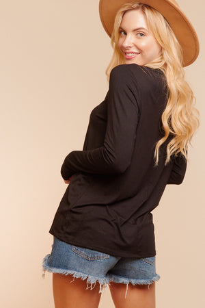Plus Black Cut Out Cold Shoulder Blouse