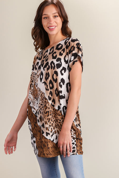 Leopard Printed Blouse