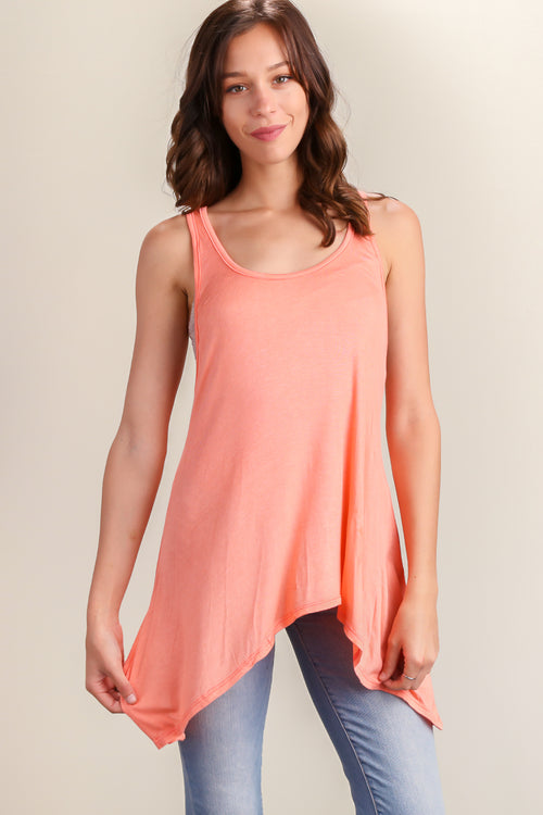 Coral Racerback Breathable Summer Tank