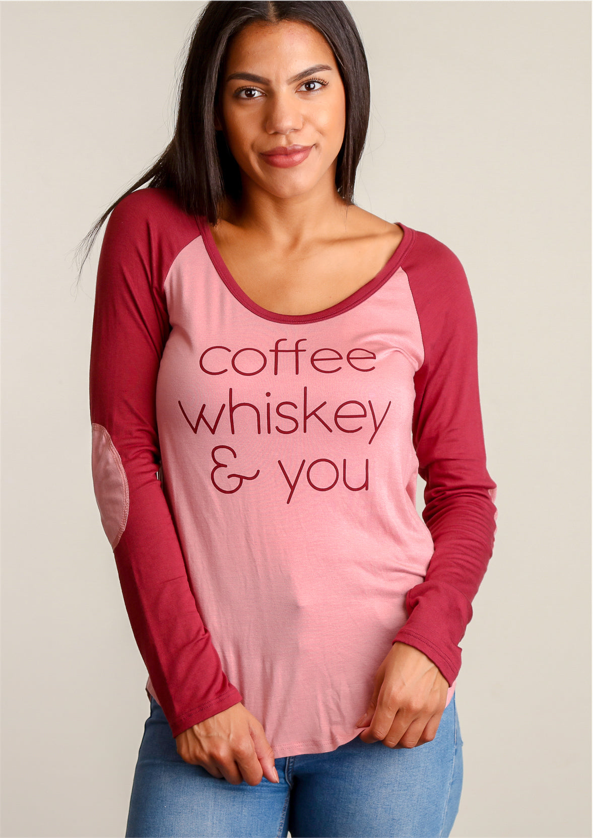 "Wine & Blush ""Coffee, Whiskey & You"" Blouse"