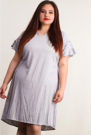 Plus Heather Grey Dress