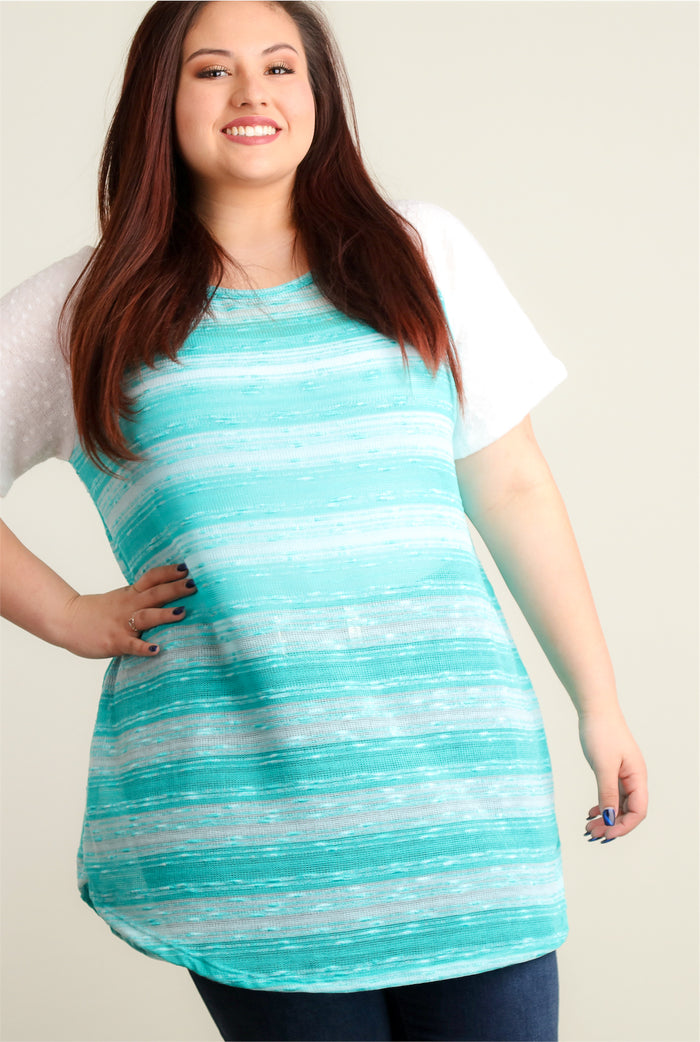 Plus Mint Stripe Raglan