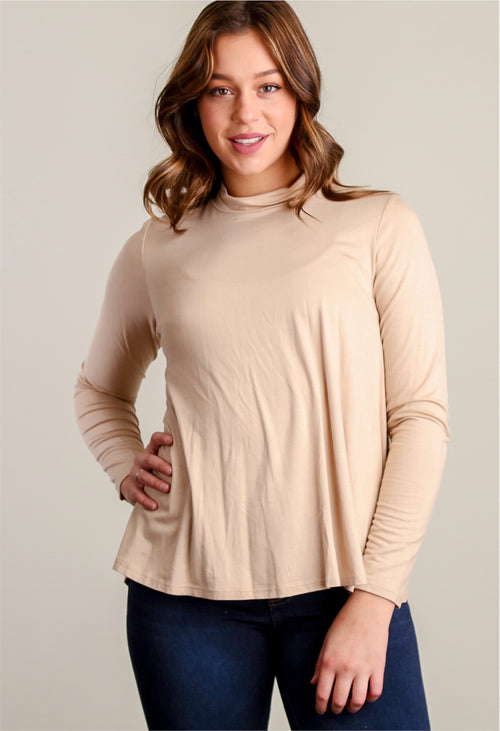 Taupe Solid Blouse