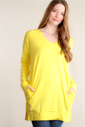 Yellow Pocketed Tunic