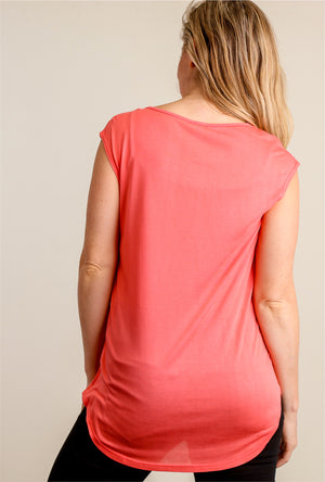 Coral California Coffee Blouse