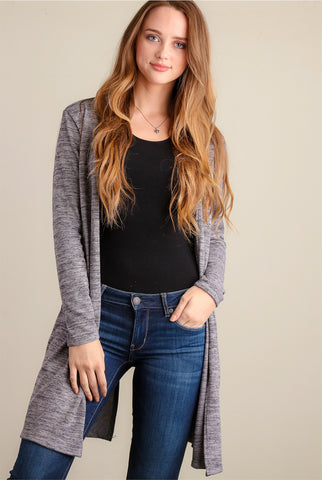 Navy Love Tassel Sweater