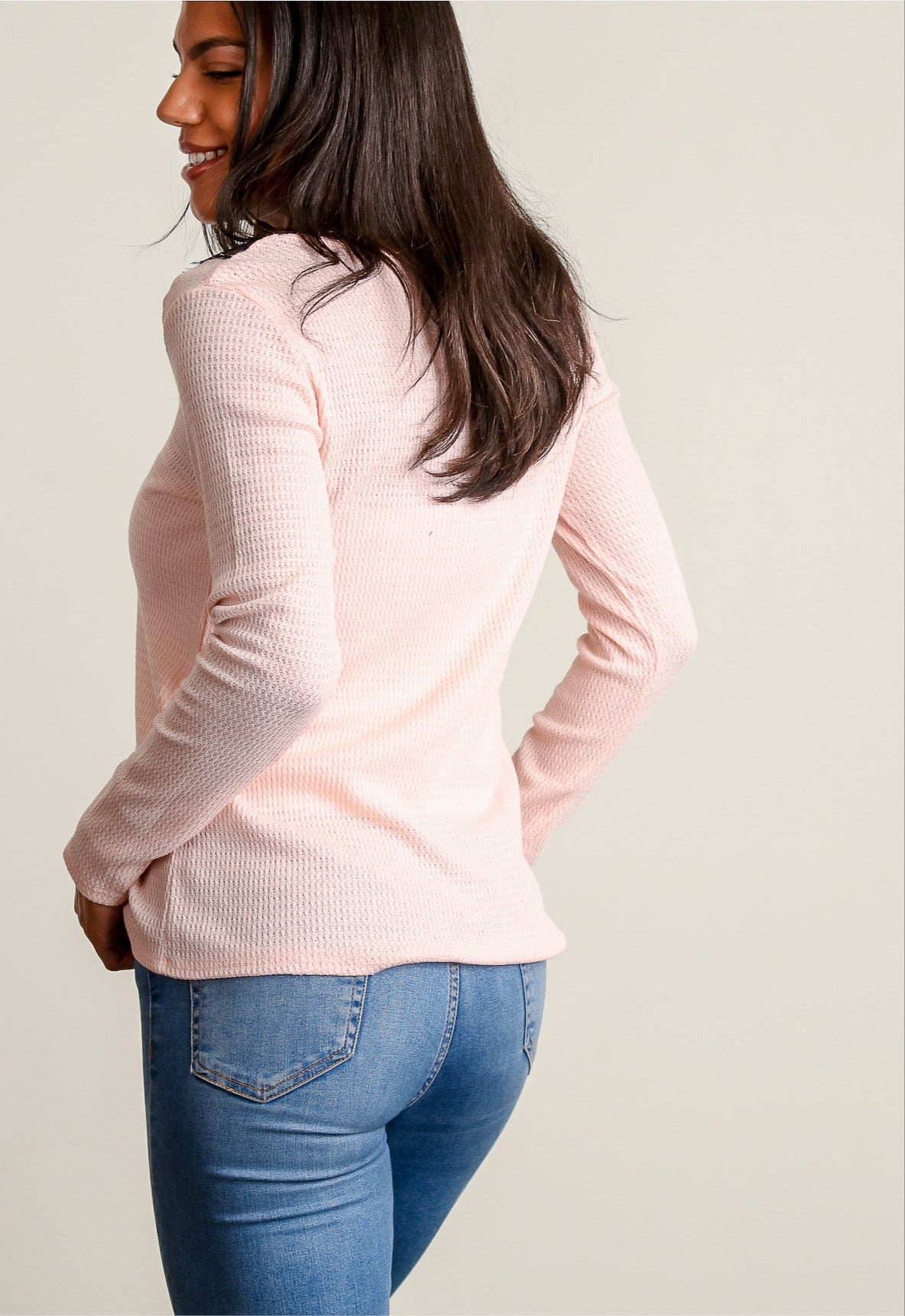 Blush Lace Thermal Blouse