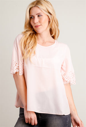 Blush Cut Out Blouse