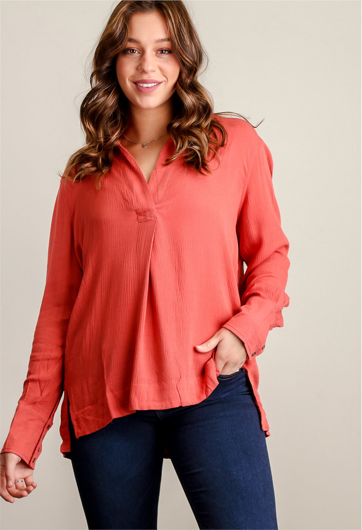 Terra Cotta Blouse
